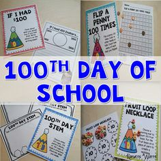 Celebrate the 100th Day of School! This resource has activities and printables to use on the 100th Day of School. Check out the preview! 100th Day of School Includes 100th Day Crown 100th Day Glasses My 100 Piece Collection Fruit Loop Necklace Write Numbers to 100