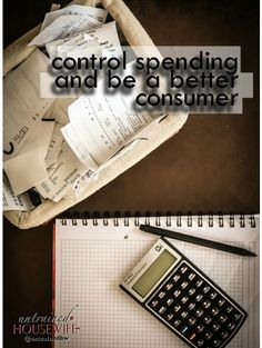 How to Control Spending and be a Better Consumer with Less Debt Best Money Saving Tips, Ways To Save Money, Money Tips, Saving Money, How To Make Money, Budgeting Finances, Budgeting Tips, Family Budget, Frugal Living Tips