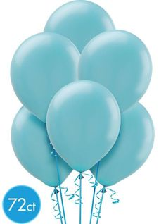 Caribbean Blue Balloons 72ct - Party City Canada