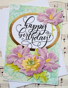 Handmade birthday greeting card birthday card for friend friend handmade birthday card birthday card for her floral by oldladybern m4hsunfo