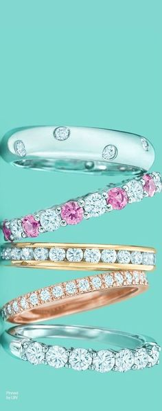 "Tiffany and Co. diamond and platinum bracelet ""garland collection"" #jewelry #jewellery Tiffany #Tiffany"