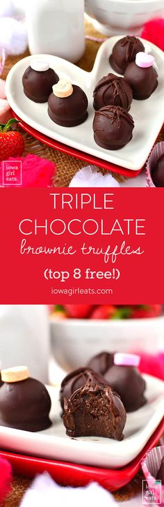 Triple Chocolate Brownie Truffles are decadent yet super easy, and free from the top 8 food allergens. A must-try for chocoholics!