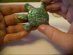 Turtle Pendant Polymer clay tutorial