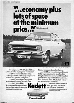 Opel Kadett Car Advert