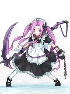Maid Medusa Lancer Fate Zero, Anime Scythe, Character Art, Character Design, Greek Pantheon, Fate Stay Night Anime, Anime Maid, Fate Servants, Otaku