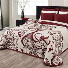 Red Bedroom Design, Bedroom Red, Linen Bedroom, Home Room Design, Bed Design, Modern Bedroom, Bedroom Decor, King Comforter Sets, Duvet Sets