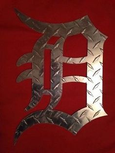 "Detroit Tigers ""Man Cave"" Logo Wall Sign"