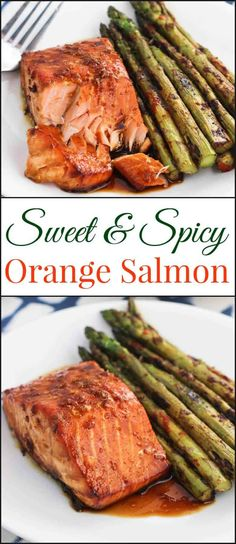 Today I'm excited to share one of my recent favorite dinners - sweet and spicy orange salmon. It's a healthy dinner idea that is quick and easy.  via @ohsweetbasil