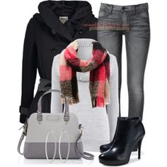 """Plaid Knit Scarf & Kate Spade"" by casuality on Polyvore"