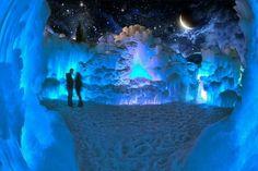 Midway Ice Castles in Utah