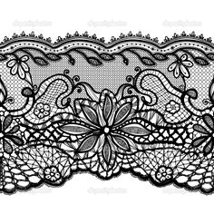 lace line drawing Corset Tattoo, Lace Tattoo, Garter Tattoos, Lace Drawing, Pattern Drawing, Antique Lace, Vintage Lace, Henna Ankle, Tattoo Filler