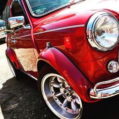 #Mini Red Mini Cooper, Mini Cooper Classic, Classic Mini, Classic Cars, Mini Morris, Mini Lifestyle, Cooper Car, Mini One, Mini Things