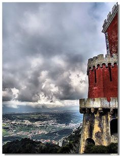 Pena palace...... I love this stormy look. It speaks to me