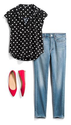 Stitch fit, fashion over work fashion, casual outfits, fashion outfits, Over 50 Womens Fashion, Fashion Over 50, Look Fashion, Fashion Outfits, Fashion Trends, Red Flats Outfit, Outfits With Red Shoes, Casual Outfits, Cute Outfits