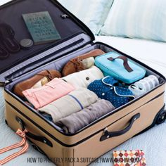 DYK rolled items go to the bottom of the bag? Lets teach you how to pack a suitcase!