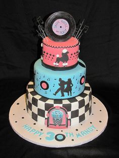 I want to make this cake! Someone have a party with a 50's theme and I am on it!