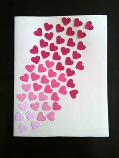 Use paint chart for colours - any shape, hearts for mother day/ valentine, stars for Christmas/trees?