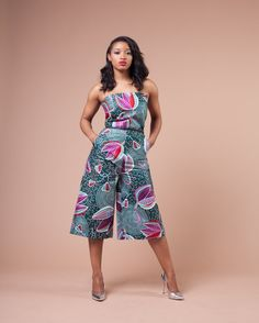 Pictures of our most lovely ankara styles of all time for every beautiful lady out here. Some try these lovely ankara styles African Print Jumpsuit, African Print Dresses, African Dresses For Women, African Wear, African Attire, African Fashion Dresses, African Style, African Outfits, African Prints