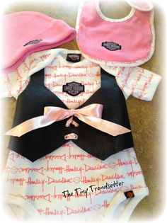 Genuine Harley Davidson Leather Baby Girl 3 by TheTinyTrendsetter, $69.00
