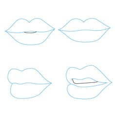 how to draw lips. four different ways