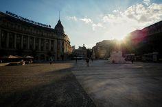 Bucharest - Sunset on University Square