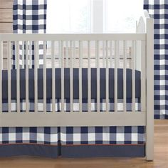 Navy Deer Woodland Crib Bedding