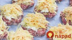 500 g mletého mäsa a 3 surové zemiaky a kúsok syra: Lenivé obložené fašírky – už viem, čo uvarím na najbližšiu večeru! Pulled Pork, Baked Potato, Cabbage, Dinner Recipes, Tacos, Beef, Food And Drink, Vegetables, Cooking