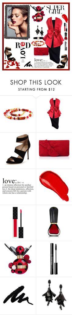 """Red LOVE"" by danceofthesoul on Polyvore featuring мода, Carvela, L.K.Bennett, WALL, Burberry, Gucci, Oribe, Marc Jacobs, Oscar de la Renta и Rolex"