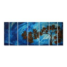 All My Walls MAD00043 To the Sky Metal Art  Bring a unique look and color to your walls with this To The Sky metal wall sculpture by Megan Duncanson. These