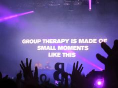 Group therapy is made of small moments like this