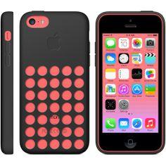 iPhone 5C Pink in black case