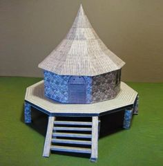 Papermau: Oggum Hut Paper Model For Dioramas, RPG and Wargamesby The Grinning Skull