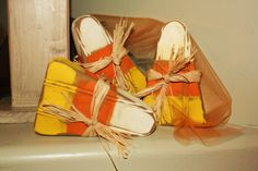 Halloween Wood Candycorn by picklesanddaisies on Etsy
