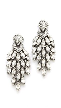 Ben-Amun Crystal Statement Earrings   selected by jamesdrygoods.com for the made in america: contemporary project   #madeinusa  