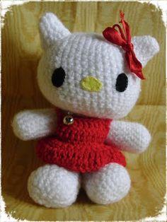 My Hello Kitty, amigurumi, crochet