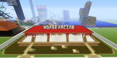 This Minecraft Horse Race Track is sure to inspire you! Click on the photo to see more pics and a video walkthrough.