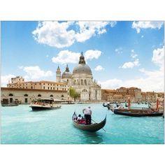 Grand Canal and Basilica Santa Maria della Salute, Venice, Italy Photography by Eazl, Silver