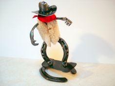 Horseshoe cowboy snowboarding. $49.00, via Etsy.