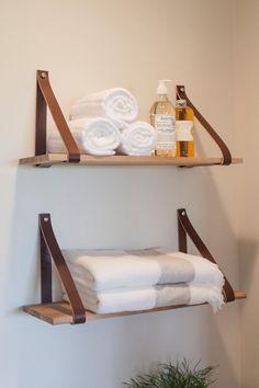 Best Apartment Decorating For Couples Bathroom Shelves Ideas Bathroom Wall Shelves, Wall Shelves Design, Bathroom Storage, Bathroom Mirrors, Bathroom Ideas, Master Bathroom, Open Bathroom, Bookshelf Design, Budget Bathroom