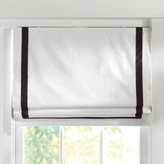 The Stunning White Roman Shades Designs with Suite Ribbon Cordless Roman Shade With Blackout Lining Pbteen 25280 above is one of pictures of home decoratin Teen Curtains, Bedroom Drapes, Bedroom Windows, White Curtains, Blinds For Windows, Window Curtains, Windows Decor, Window Coverings, Window Treatments
