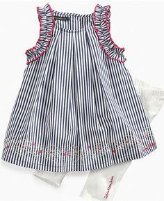 Calvin Klein Dresses for Girls   Calvin Klein Baby Set, Baby Girls Sleeveless Dress and Leggings Sold ...