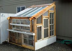 DIY Upcycled greenhouse Visit us @ http://www.freecycleusa.com/