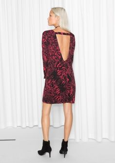 & Other Stories image 3 of Open Back Dress in Red