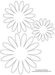 flower outline template daisy flower template easter template