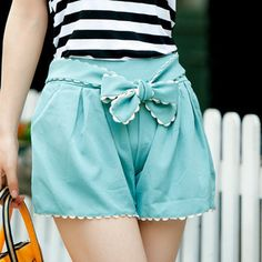 Bow belt Beach Skirt Shorts [197]  from Socishop