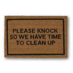 Please Knock Brown Coir Doormat