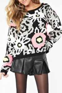 MINK PINK - IN BLOOM KNIT JUMPER