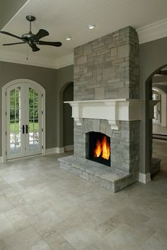 Wrap Around Mantle For Master Beach House Fireplace