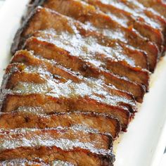 overhead view of sliced brisket basted with apple butter barbecue sauce Grilled Brisket, Pork Sausage Recipes, Grill Time, Apple Butter, Barbecue Sauce, Apple Recipes, Main Dishes, Grilling