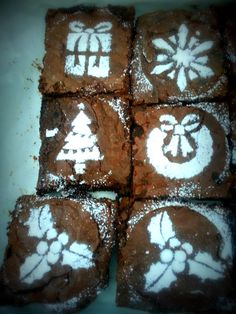 Festive Christmas brownies